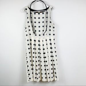 Anthropologie Eva Franco Mullany Dress 8 Polka Dot